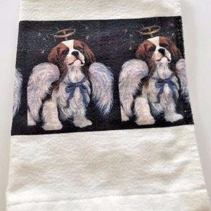 Other - Cavalier King Charles White hand towel New USA